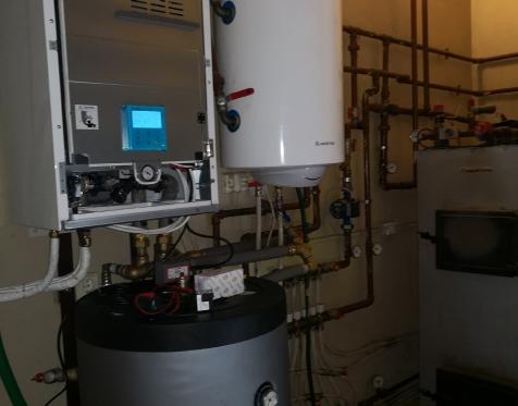 9kW Panasonic Aquarea T-cap vidinis blokas ir 200l vandens talpa
