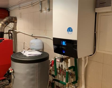 Daikin Altherma 3 prijungtas į esamą granulinio šildymo sistemą